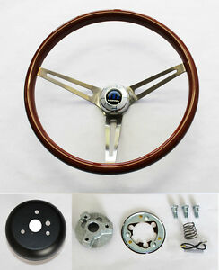 Dodge Dart Charger Coronet High Gloss Wood Steering Wheel 15 Ss Spokes