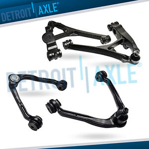 4pc Front Upper Lower Control Arm Ball Joint Chevy Silverado Sierra 1500 6lug