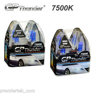 Gp Thunder 7500k Xenon Halogen Light Bulb White 9005xs 65w 9006xs 55w 2 Pairs