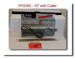 Pfs300c 12 Hand Impulse Sealer W cutter Heat Seal Machine 2 Accessories Kits