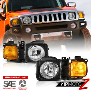 2006 2010 Hummer H3 Pair Left Right Headlights Headlamps Corner Signal Assembly