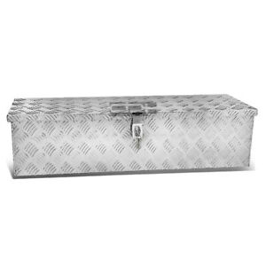 39 X13 X10 aluminum Chrome Pickup Trunk Bed Tool Box Underbody Trailer Storage