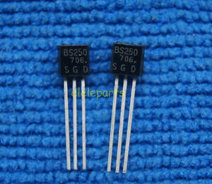 5pcs Bs250 P Channel Mosfet To 92 Brand New