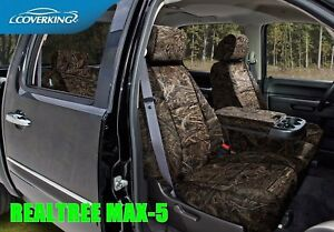 Coverking Realtree Solid Max 5 Camo Front Rear Seat Covers For Toyota Tundra