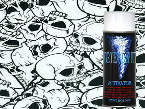 Hydrographics Film Activator Hydrodipping Water Transfer Black Clear Skull