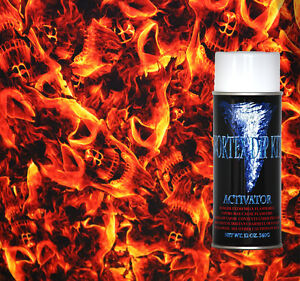 Hydrographics Film Activator Hydrodipping Water Transfer Burn Skulls Red