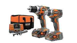 Rigid 9600 18 Volt Compact Drill And Impact Driver Kit Combo