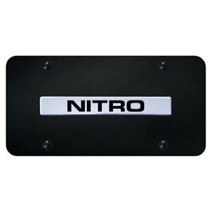 License Plate Chrome With Dodge Nitro Name On Black Officially Licensed