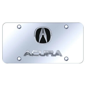 License Plate Dual Chrome With Acura On Chrome officially Licensed