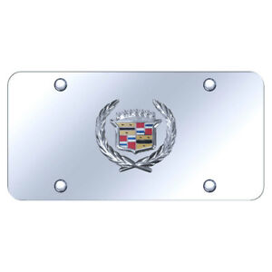 License Plate Chrome With Cadillac Logo On Chrome Officially Licensed