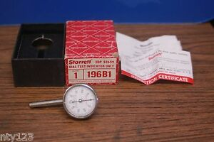 Starrett 196b1 Edp 50699 Dial Test Indicator Made Usa With Box