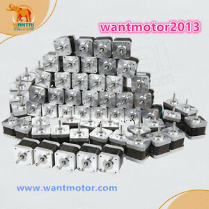 Free To Us wantai 60pcs Nema17 Stepper Motor 4800g cm 48mm 42byghw811 3d Printer