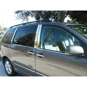 Stainless Pillar Post Trim Fit For 2005 2010 Honda Odyssey 4dr Luxfx2418