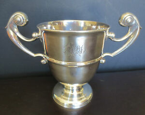 18th Century Irish Sterling Double Handle Trophy Loving Cup Goblet 406 6gram