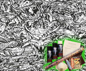 Hydrographics Dip Kit Activator Water Transfer Film Hydro Dipping Dragons