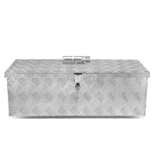 30 X13 X10 Aluminum Chrome Pickup Trunk Bed Tool Box Underbody Trailer Storage