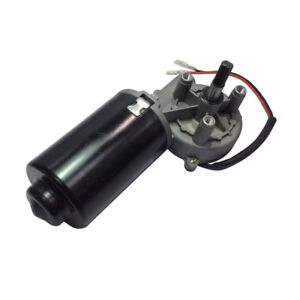24v Dc Reversible Electric Worm Geared Motor 50 Rpm High Torque 8n m Right Angle
