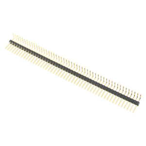 50pcs Gold Plated 1 27mm 50 Pin Male Single Row Right Angel Pin Header Strip