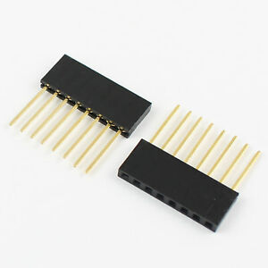 500pcs 2 54mm Pitch 8 Pin Single Row Stackable Shield Female Header For Arduino