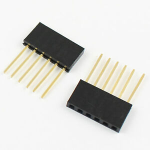 500pcs 2 54mm Pitch 6 Pin Single Row Stackable Shield Female Header For Arduino