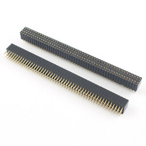 50pcs Pitch 1 27mm 2x50 Pin Double Row Straight Female Header Strip