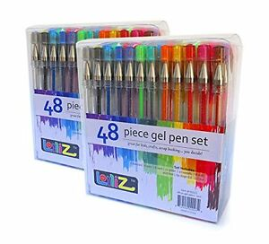 96 Gel Pen Set Multi Color Ink Art Writing Drawing Craft Office School Supplies