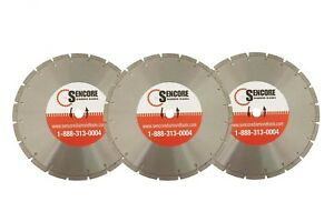 14 Segmented Diamond Saw Blades 3pk For Concrete Masonry Free Shipping