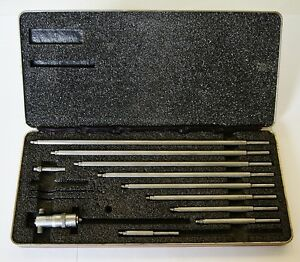 Starrett 124bz 2 12 Inside Micrometer Set 001 Graduations Usa