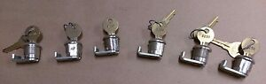 lot Of 6 7 8 Key W Lock For Use On drawers toolboxes mailboxes desks safes