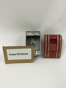 Faraday Edwards Local Alarm Fire Pull Station 10300 1 Vintage Used