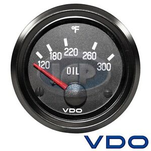 Vw Bug Air Cooled Vdo Cockpit Oil Temp Gauge 300 Degree 310012