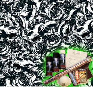 Hydrographics Dip Kit Activator Water Transfer Film Hydro Piston Skulls