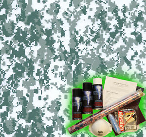 Hydrographics Dip Kit Activator Water Transfer Film Hydro Snow Digital Camo A25