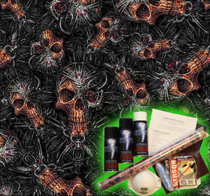 Hydrographics Dip Kit Activator Water Transfer Film Hydro Terminator Skulls