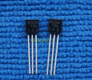 50pcs Bs250 P Channel Mosfet To 92 Brand New