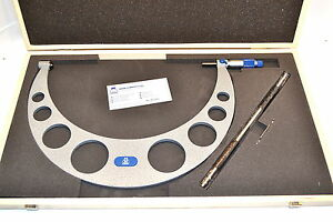 New Moore Wright Mw210 081 Micrometer 11 12 0 0001 Carbide Standard Wl52 2
