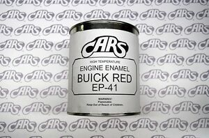 1941 Buick Red Engine Paint Quart Can Ep41