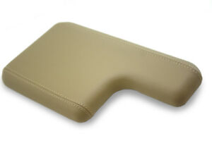 Armrest Console Cover Leather Synthetic For 00 06 Ford Ranger Beige W Cupholder