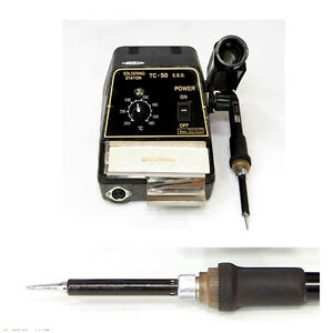 Soldering Station Iron Kit Set Analog Exso Tc 50 tc50 Esd Made In Korea 220v