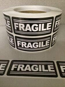 500 1 25 X3 Fragile Labels Stickers For Shipping Supplies Office Products Ebay