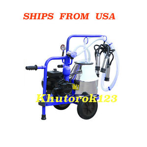 Cows Milking Machine 120v 5 3us Gal 20l Stainless Steel 304l Milker Free Extras