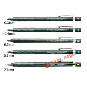 Pentel Graph 1000 For Pro Mechanical Drafting Pencil 5 Tip Set Free Shipping