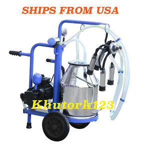Milking Machine For Cows 120v 30l 7 4 Us Gal Stainless Steel Milker Free Extras