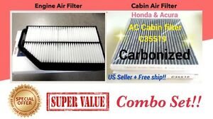 Combo For Honda Odyssey Engine carbonized Cabin Air Filter 11 17 Af6153 C35519c