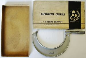 J T Slocomb 5 6 Outside Micrometer 001 Graduations Usa