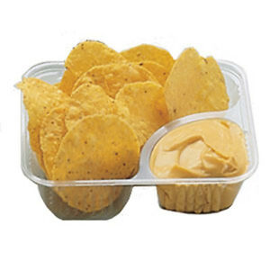 25 Nacho Cheese Tray Clear 2 Compartment