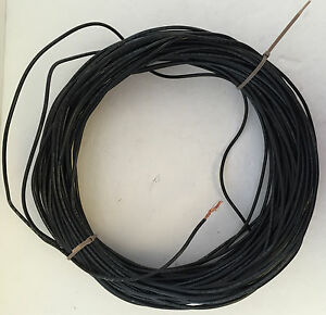 12awg Black Stranded Wire Copper Cable Thhn Thwn 4 plus Pounds For Ham Etc