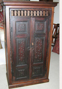 Unique Cabinet Made With Antique Carved Doors
