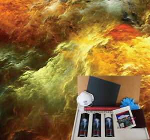 Hydrographic Dip Kit Activator Water Transfer Film Hydro Eye Of The Storm Galaxy
