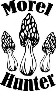 Morel Hunter Decal Sticker For Truck Hunting Spores